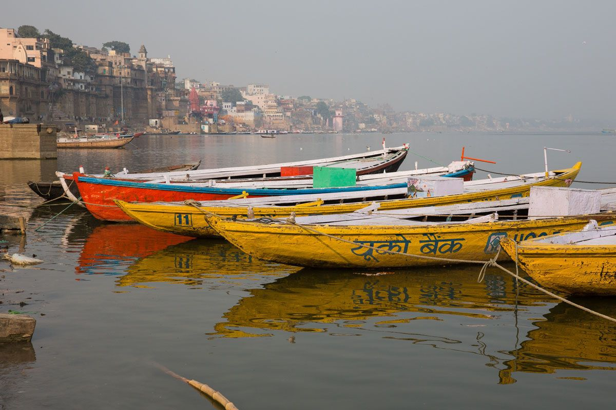 Boats on the Ganges