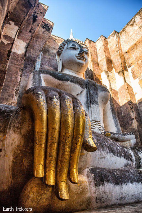Giant Sitting Buddha Sukhothai