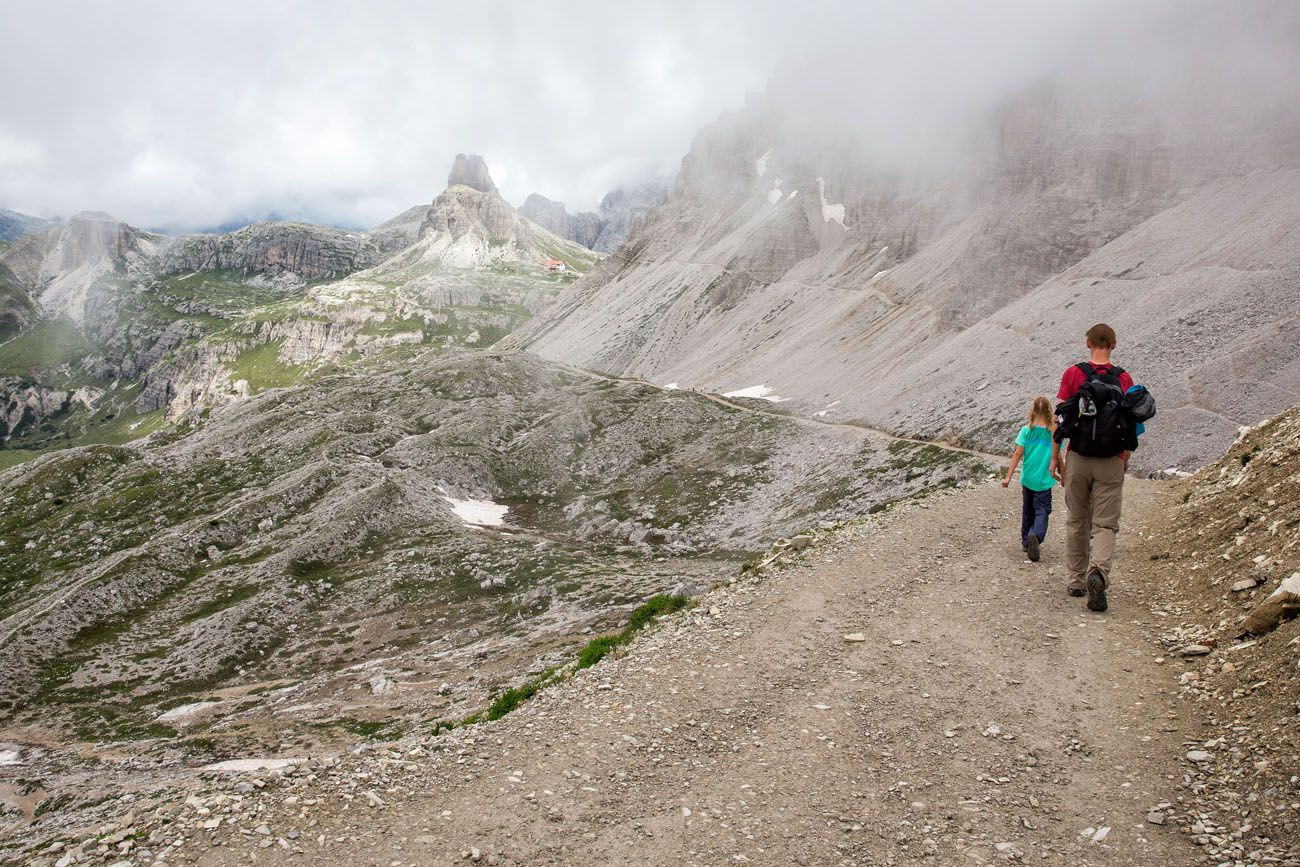 Hiking Tre Cime with Kids