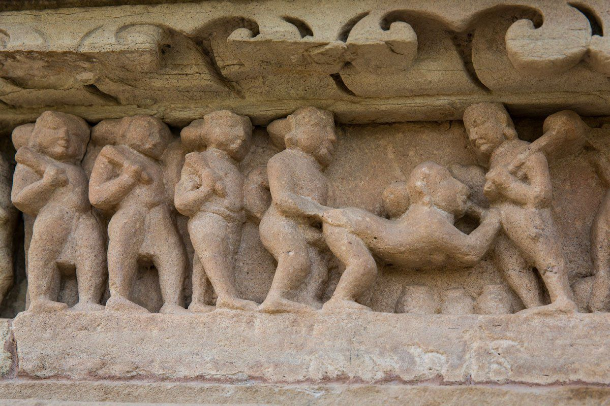 Khajuraho Carvings Erotic