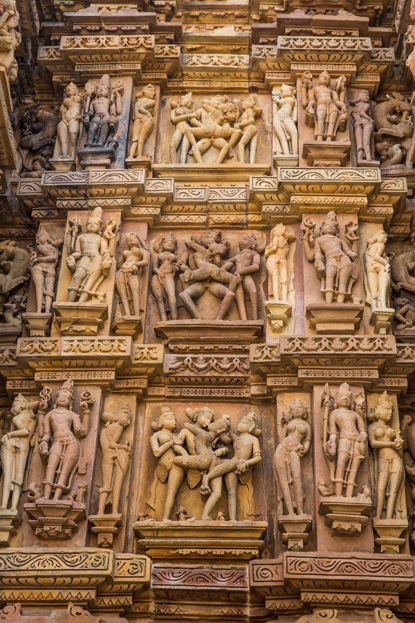 Khajuraho Erotic Carvings
