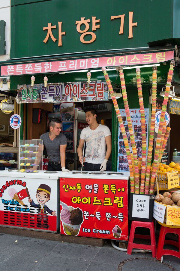 Turkish Ice Cream in Seoul