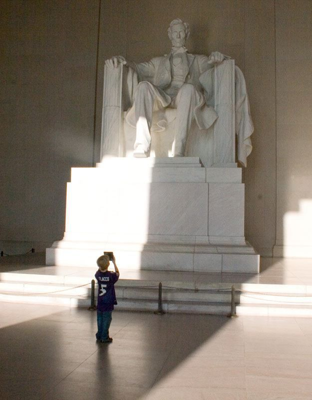 Photographing Abe