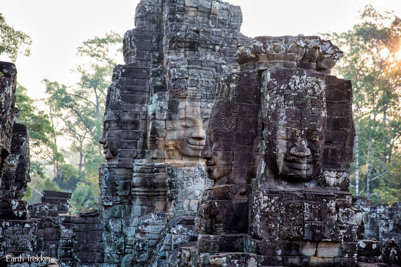 Seeing Bayon at Sunrise