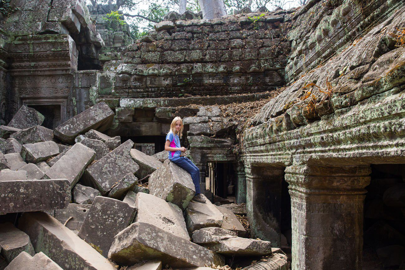 Ta Prohm with Kids
