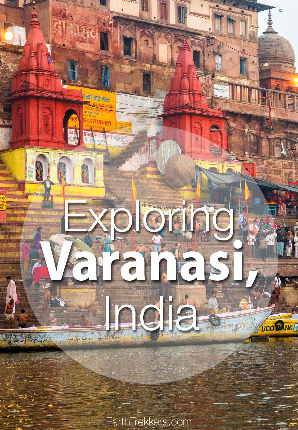 Varanasi, India and sunrise on the Ganges River