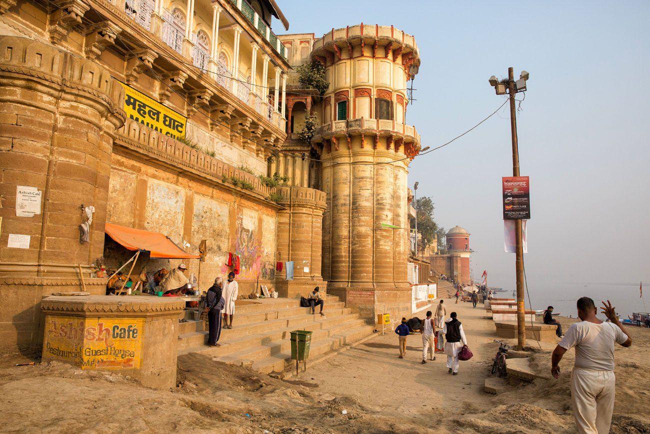 Walking along the Ganges River