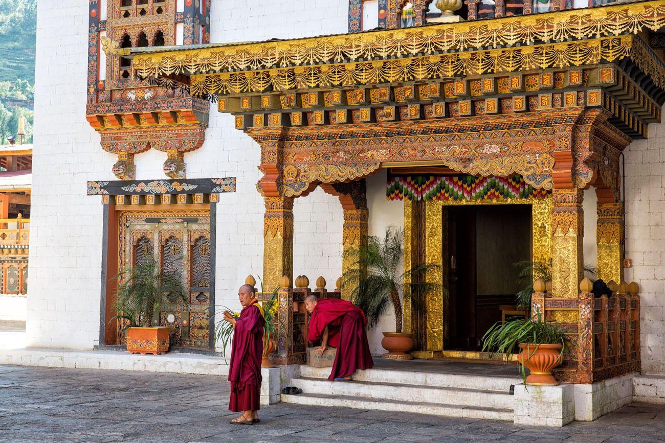Doorway in Bhutan