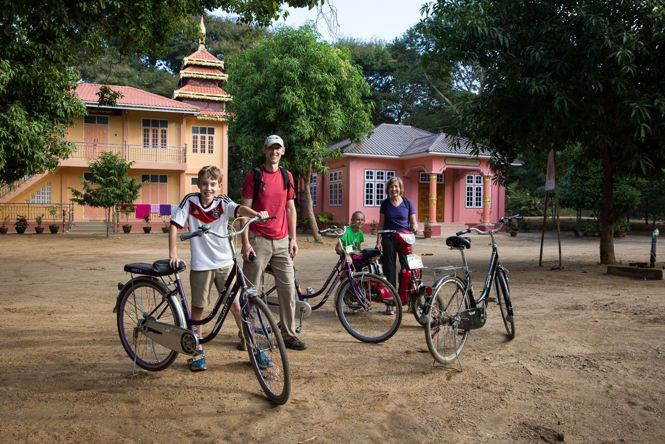 Family Cycling Bagan
