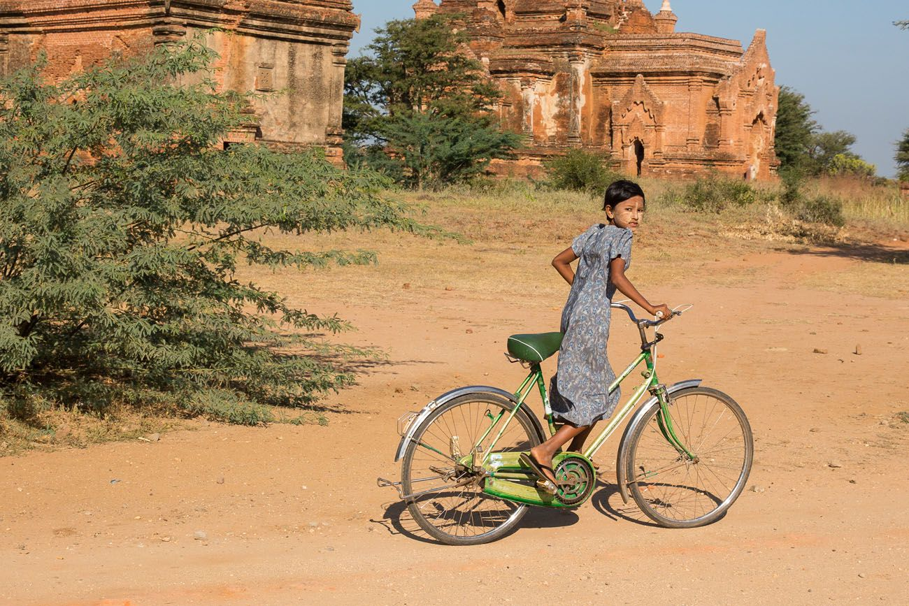 Girl in Bagan