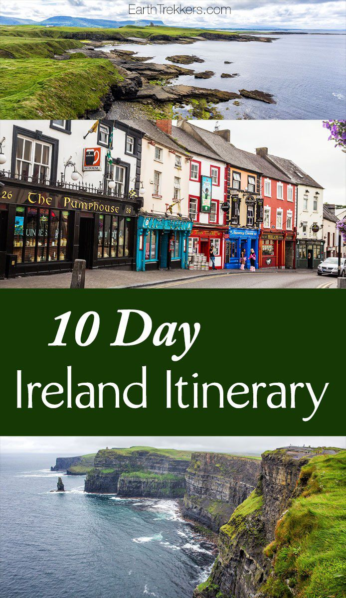 Ireland Itinerary Road Trip 10 Days