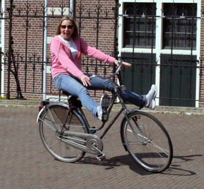 Julie on a Bicycle