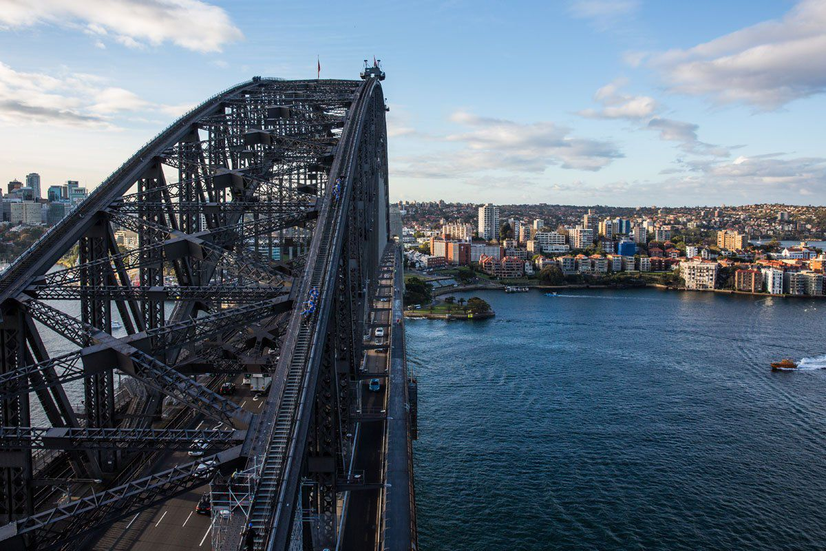Overlooking Sydney Harbor Bridge