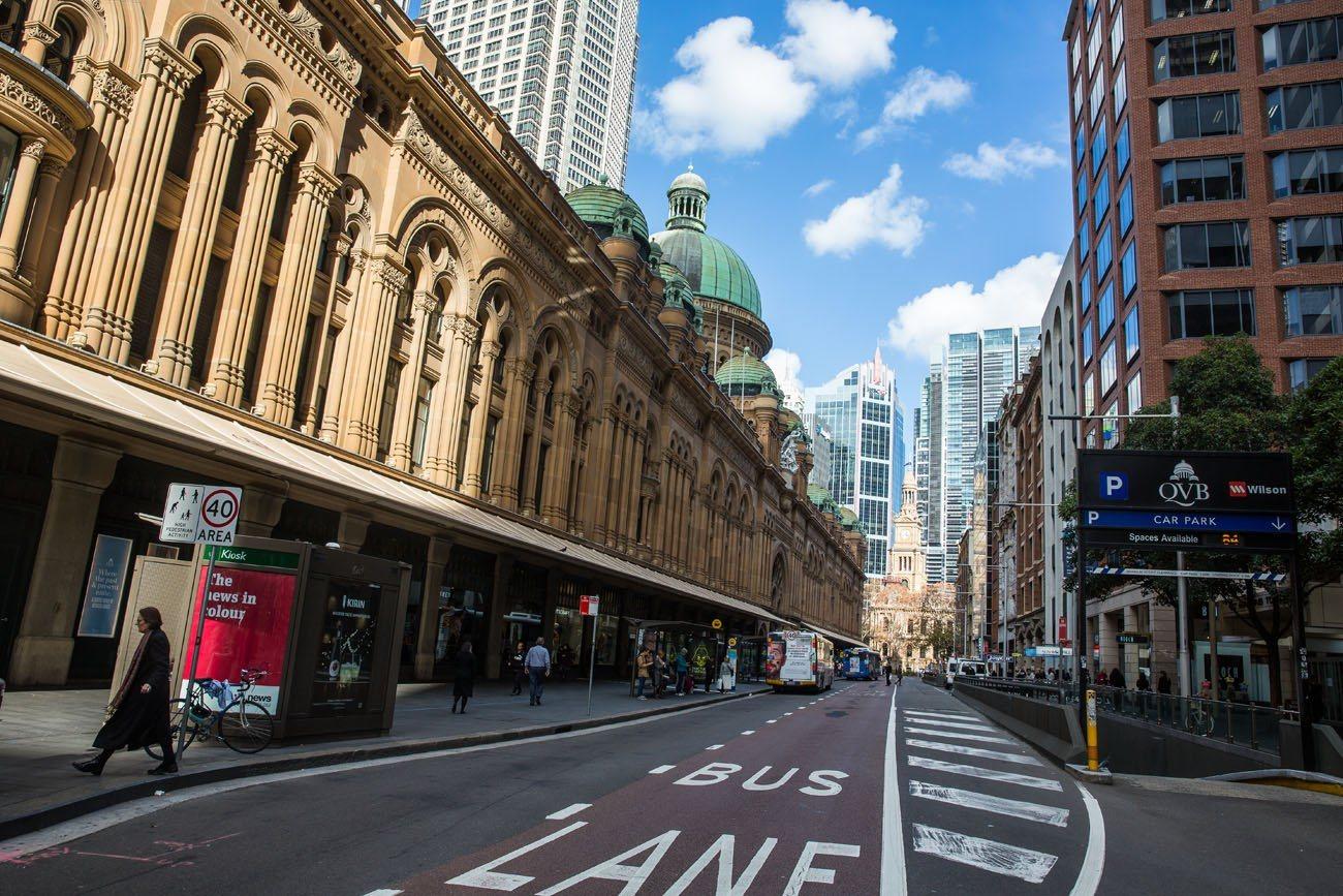 Walking through Sydney