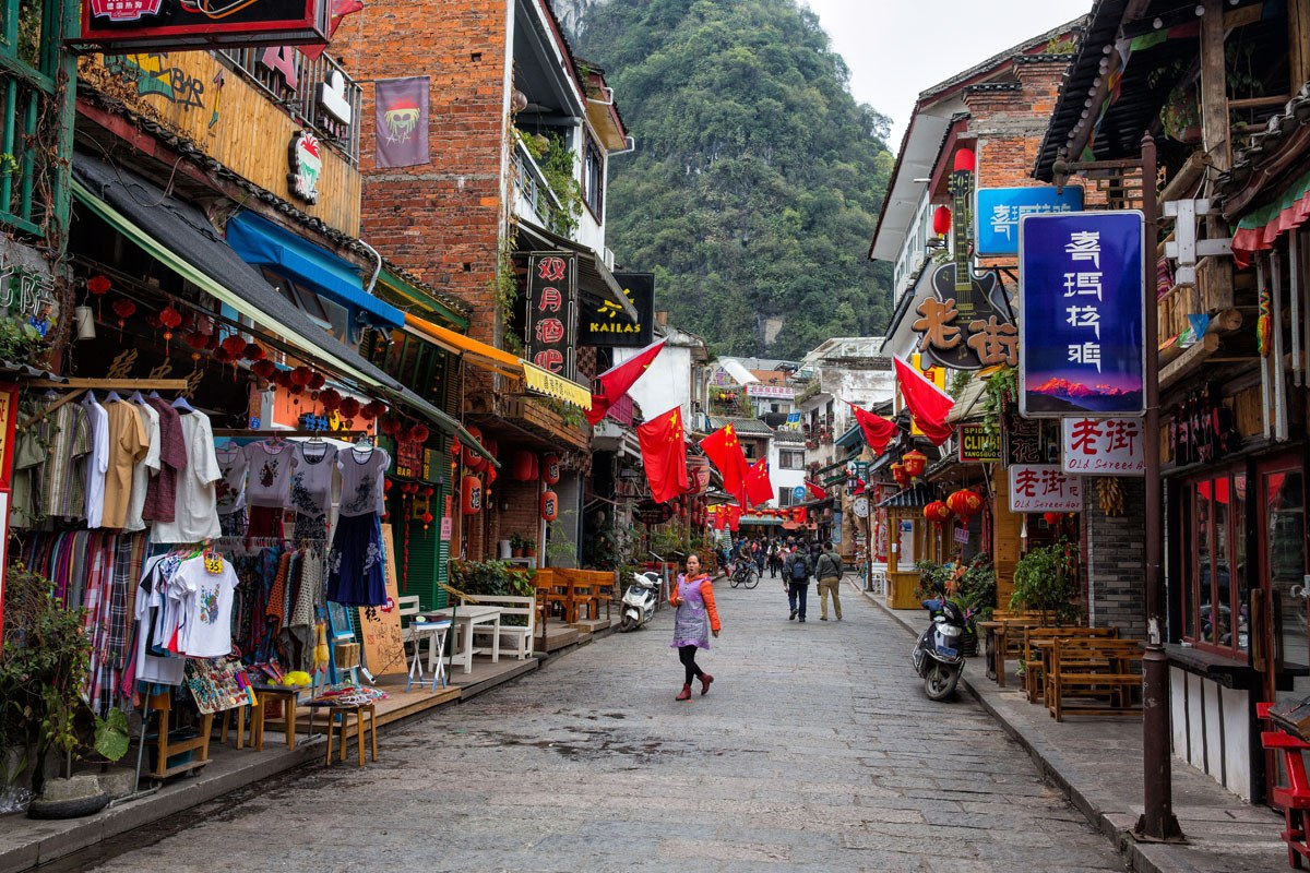 Yangshuo Street in March