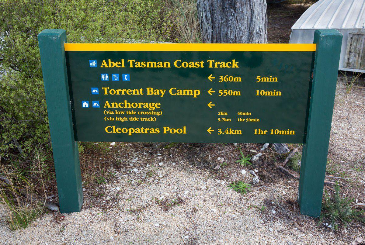 Coast Track Sign