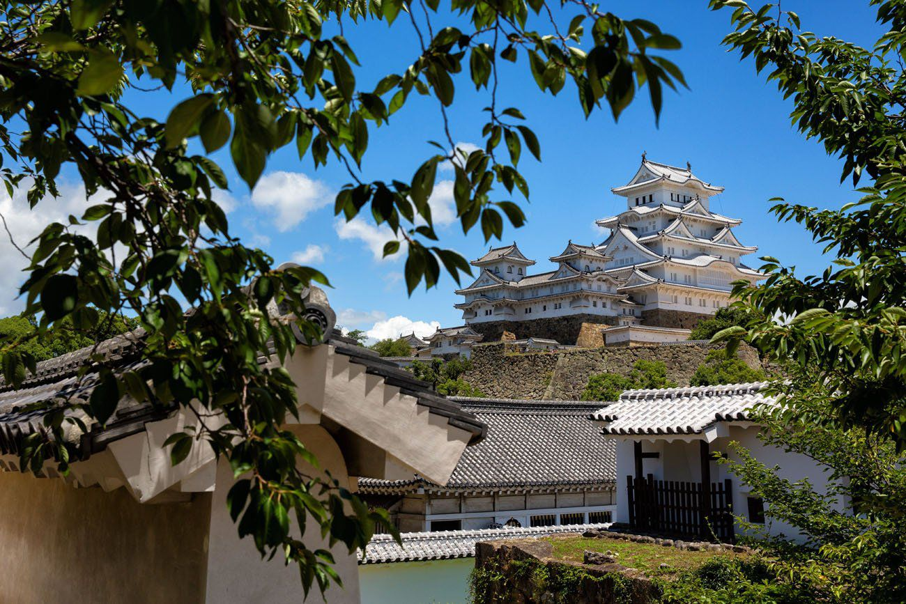 Himeji Castle from the Trees