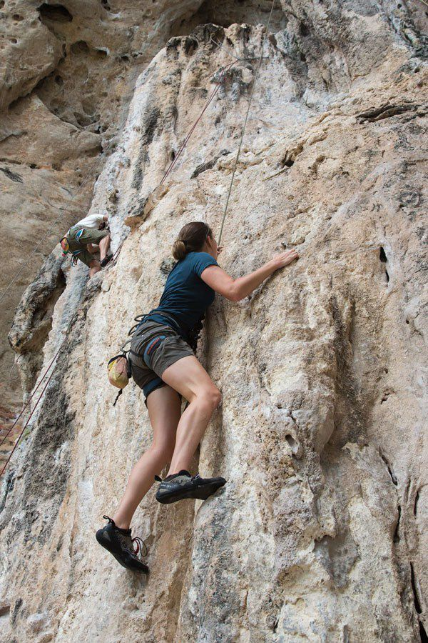 Julie Rock Climbing