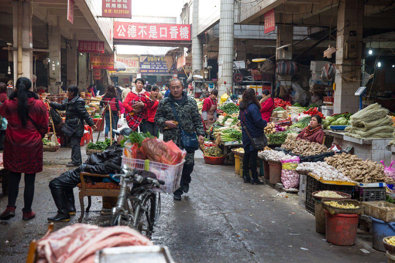 Market Zhangjiajie