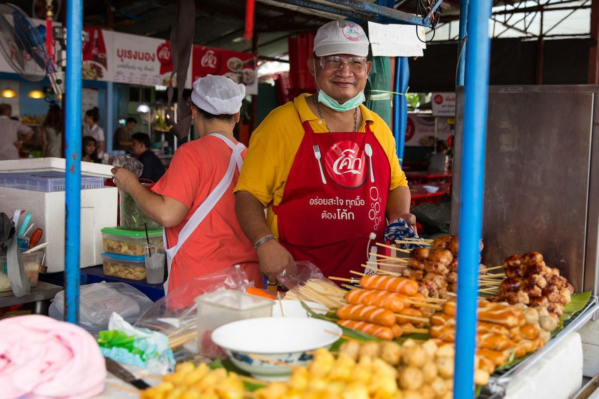 Ordering Street Food Bangkok