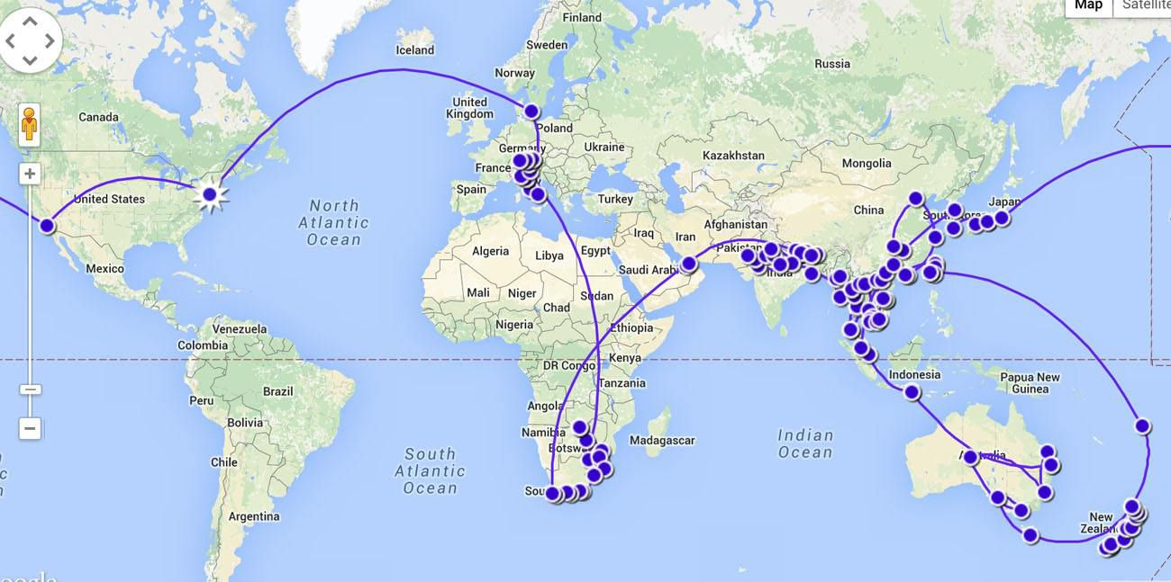 Our RTW Map