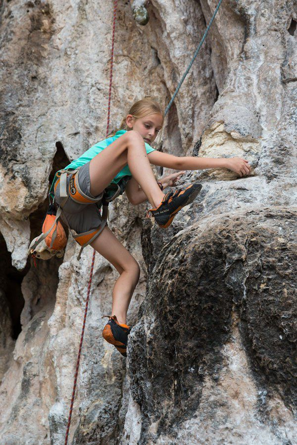 Rock climbing Krabi with kids