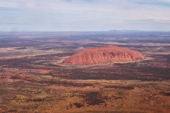 Uluru from Airplane