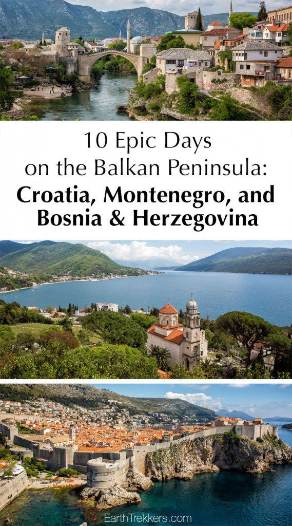 Balkan Peninsula Itinerary Croatia Montenegro