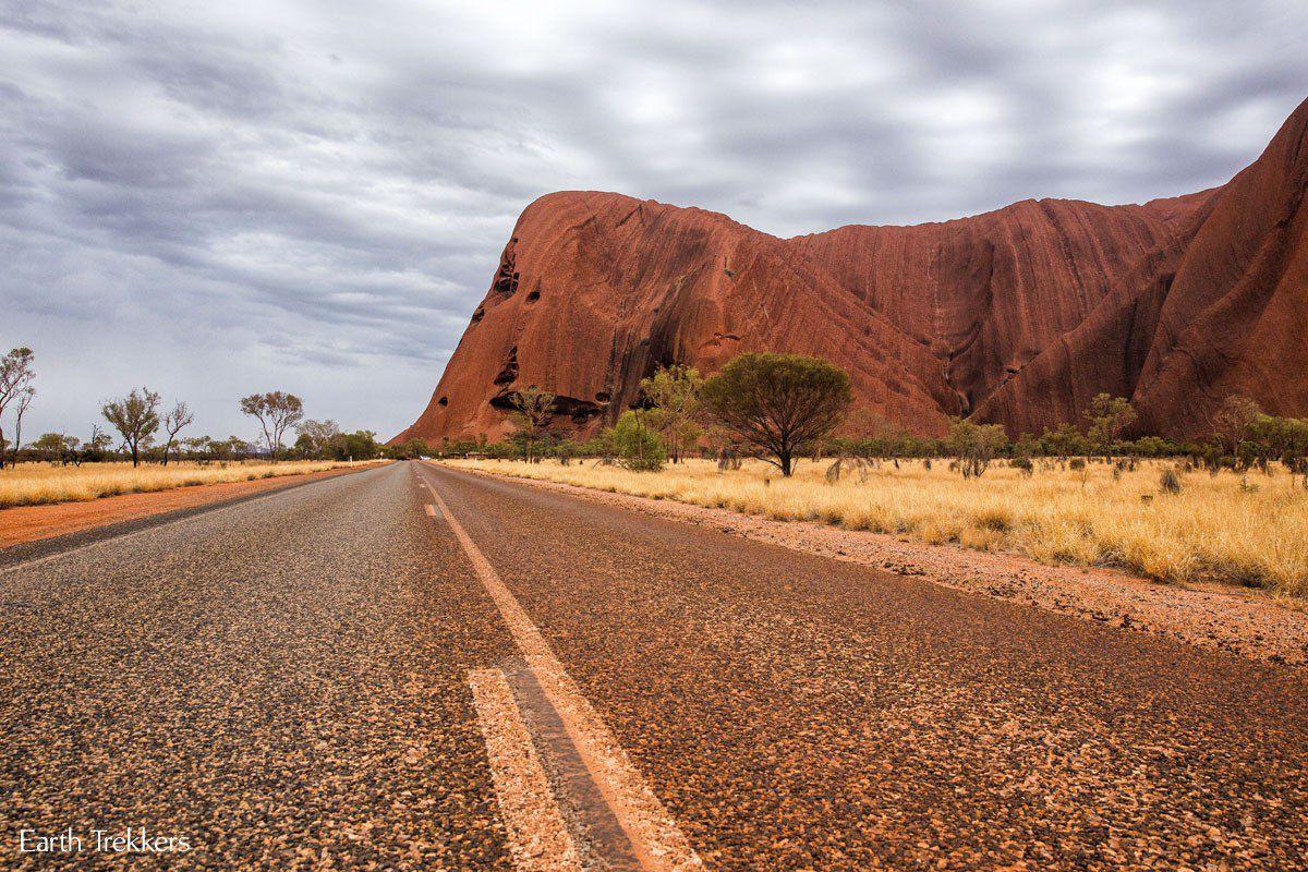 Driving in Uluru