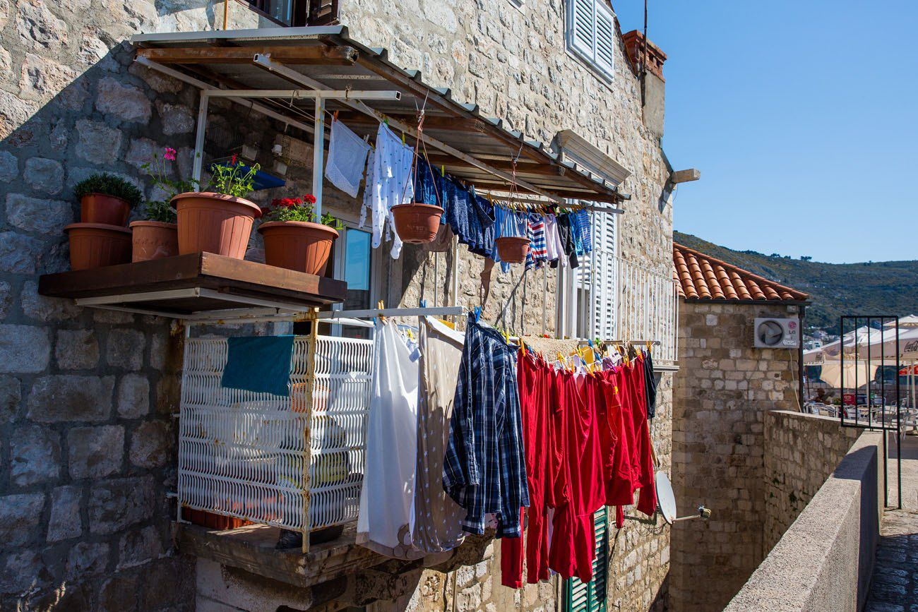 Laundry on the wall