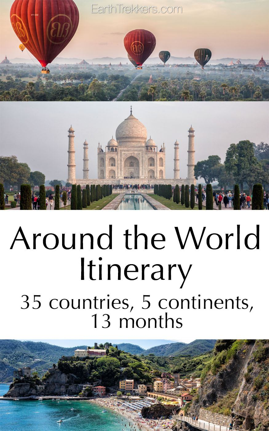 Our Around the World Itinerary Pin