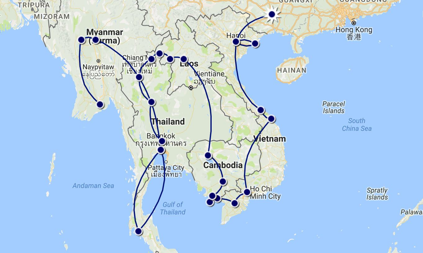 Our Southeast Asia Route