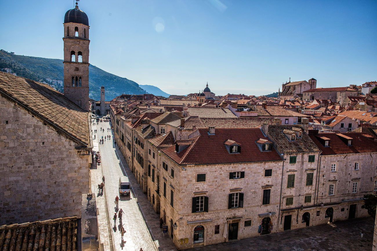 Stradun from the Dubrovnik Wall