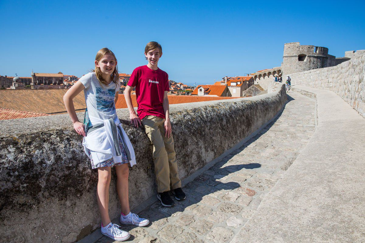 Tyler and Kara in Dubrovnik