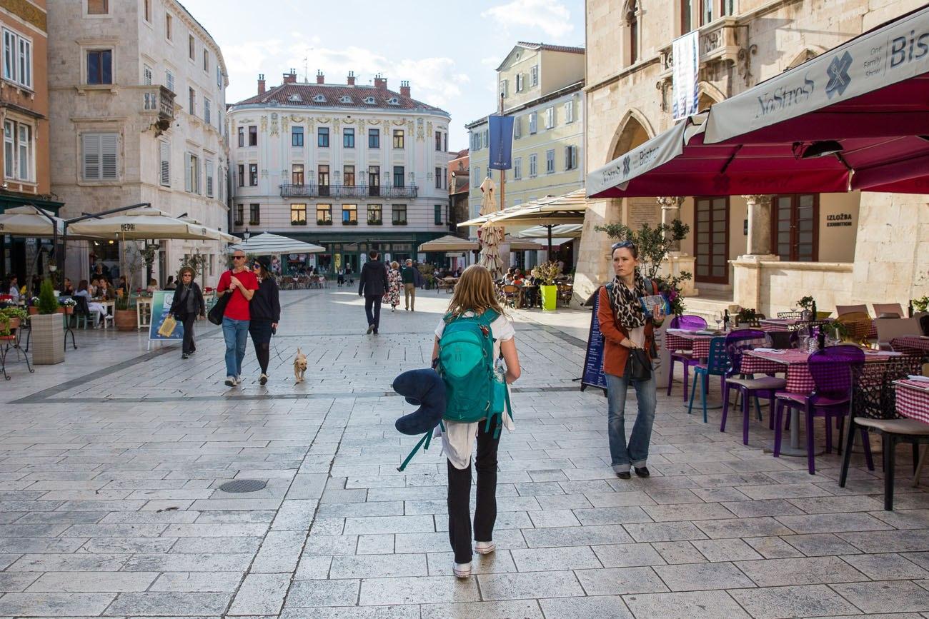 Walking through Split
