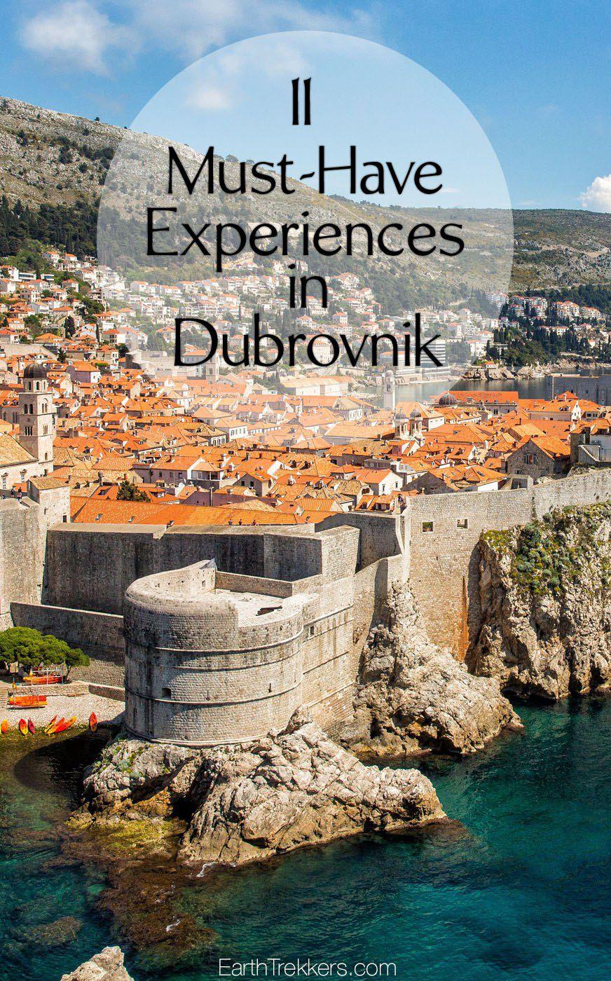 Dubrovnik Croatia Must Have Experiences