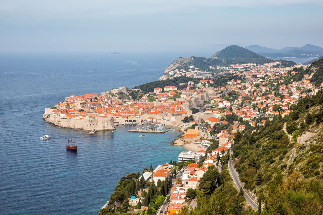 Dubrovnik from the road