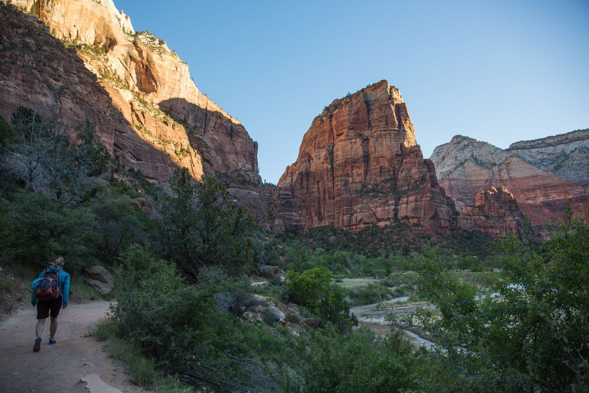 First View of Angels Landing
