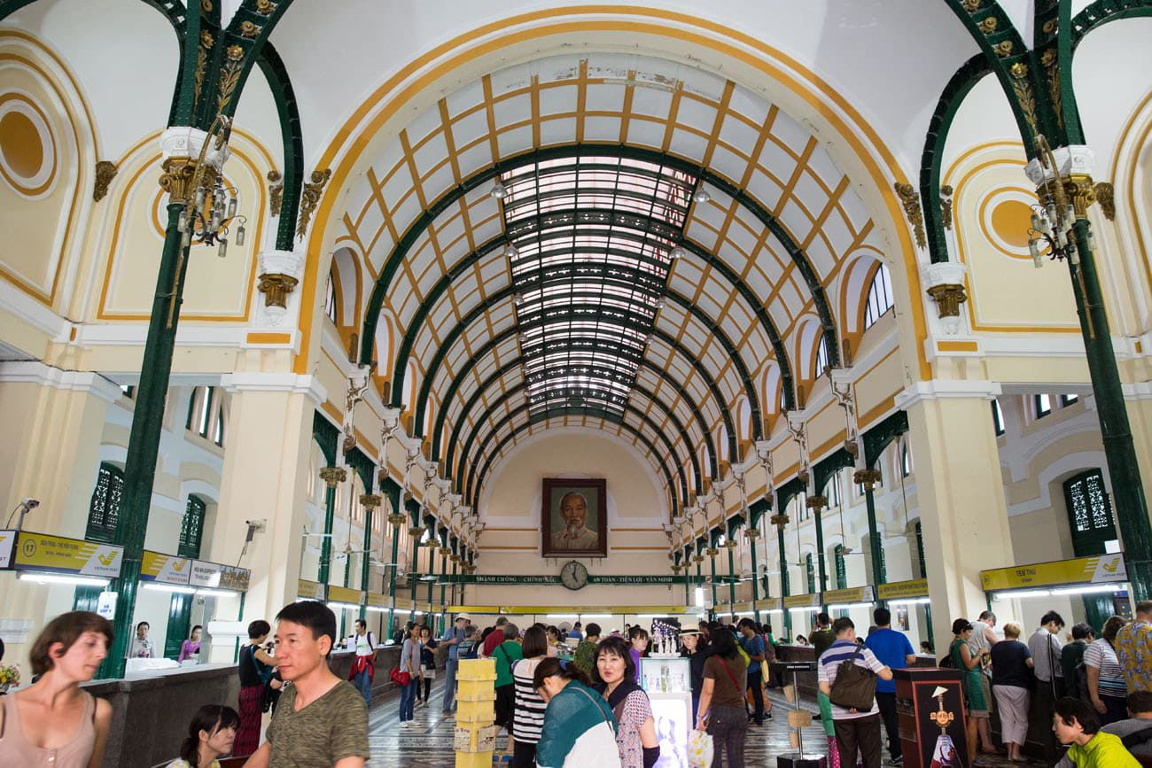 Inside the HCMC Post Office