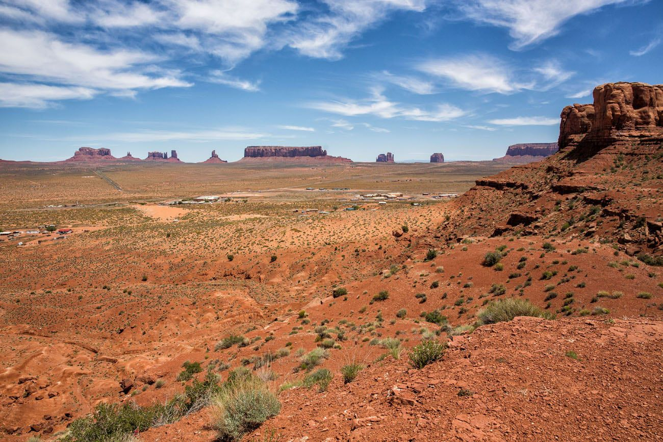 Monument Valley View from Teardrop Arch