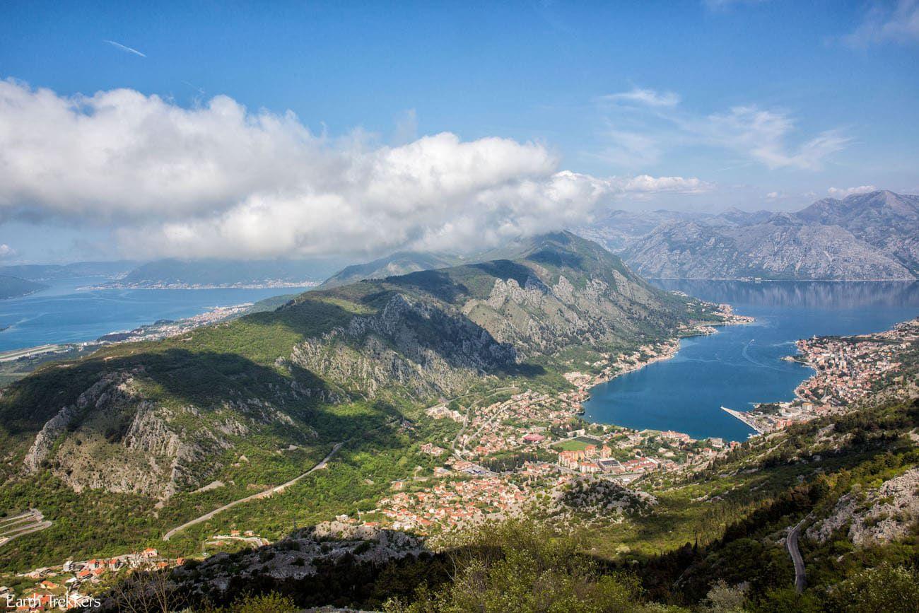 Overlooking Bay of Kotor