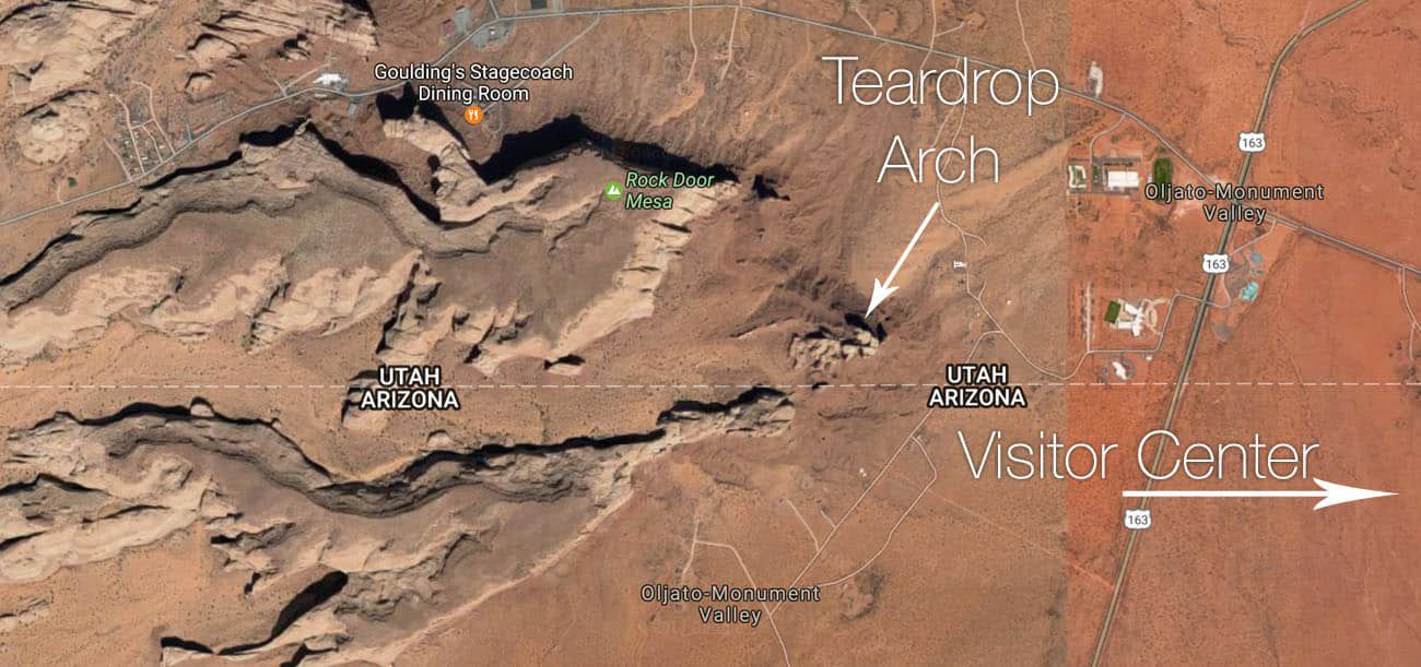 Teardrop Arch Map