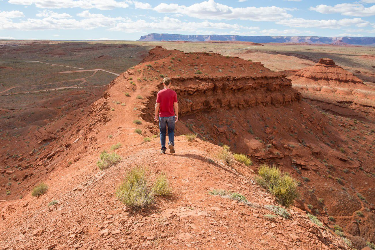 Tim hiking Mexican Hat
