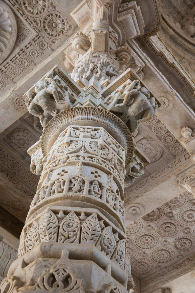 Marble Column in Ranakpur