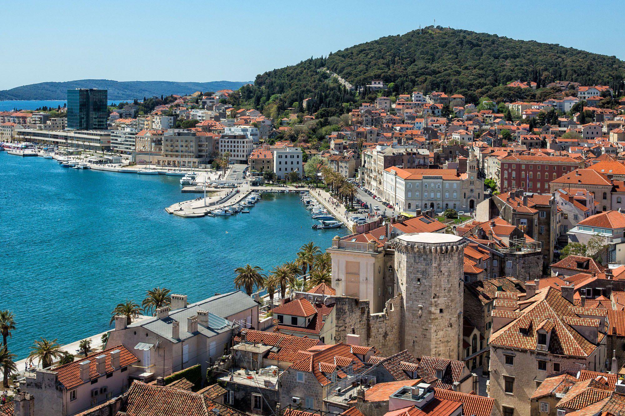 Overlooking Split Croatia
