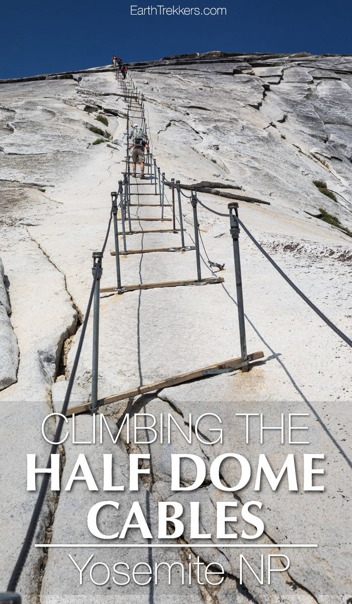 Climbing Half Dome Cables