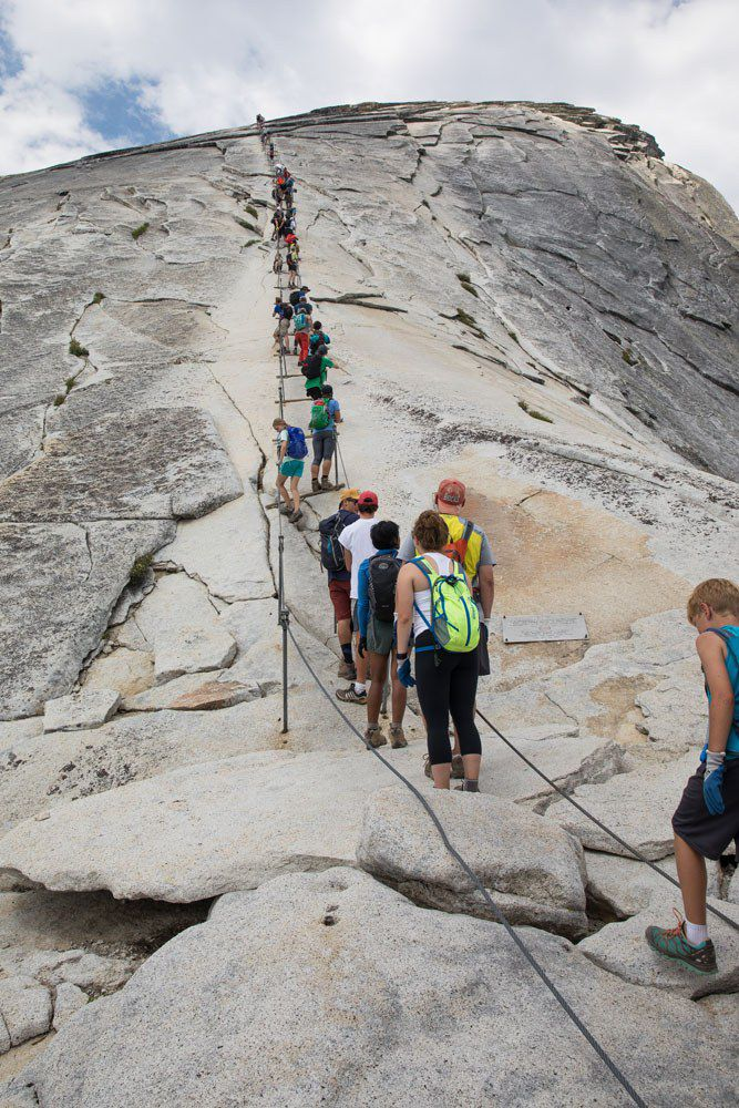Half Dome Cables in July