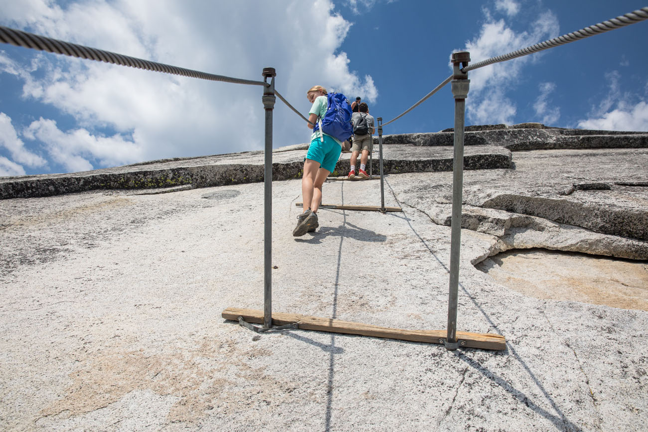 Half Dome Cables with Kids