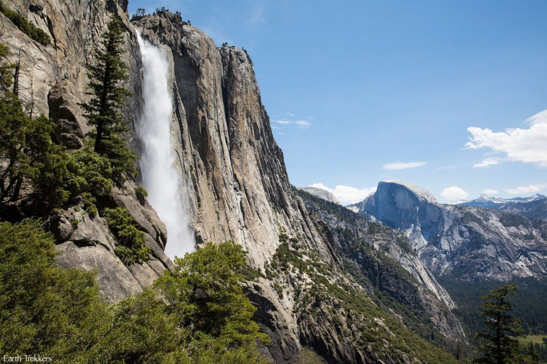 hiking to upper yosemite falls and yosemite point earth trekkers