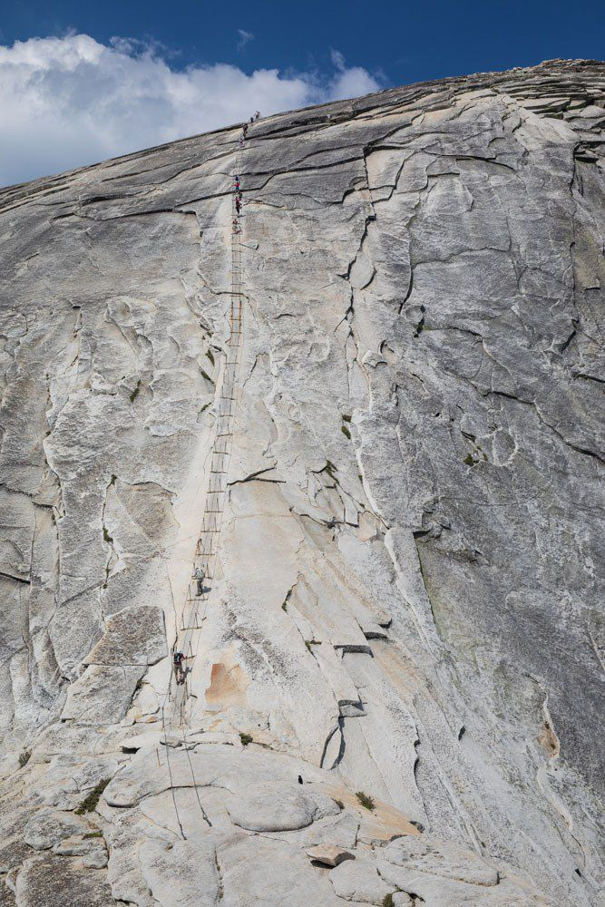 Hiking Half Dome Cables